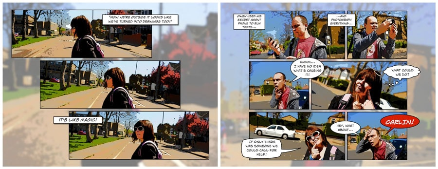 Another Comic Book Project For Our Nephew About Hollie And I Trapped In