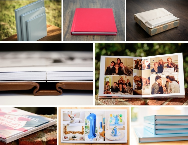 Some of my gorgeous Heirloom and PhotoBook albums, made to order for all my clients.