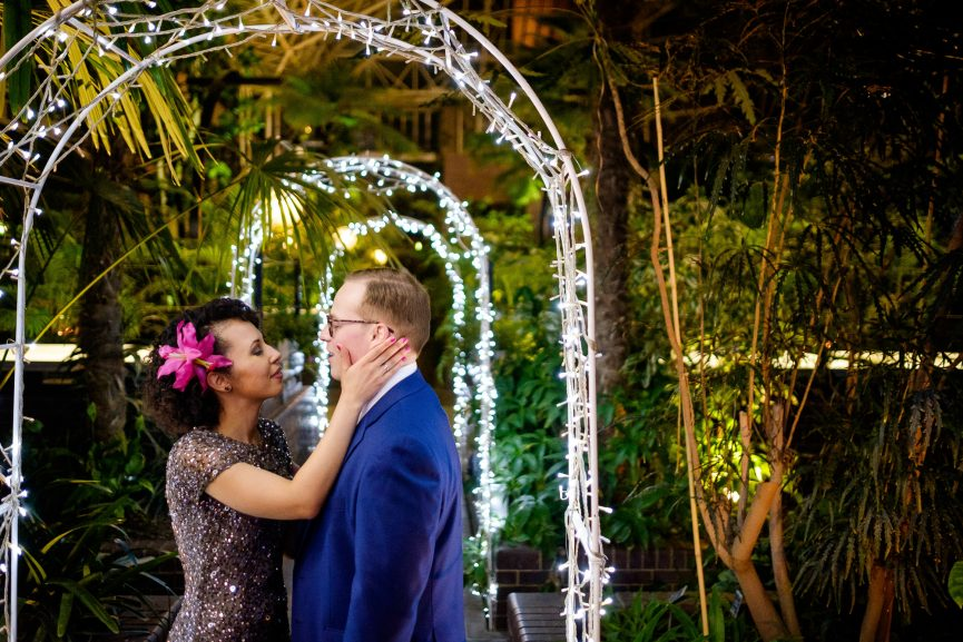 barbican conservatory wedding reception photographer