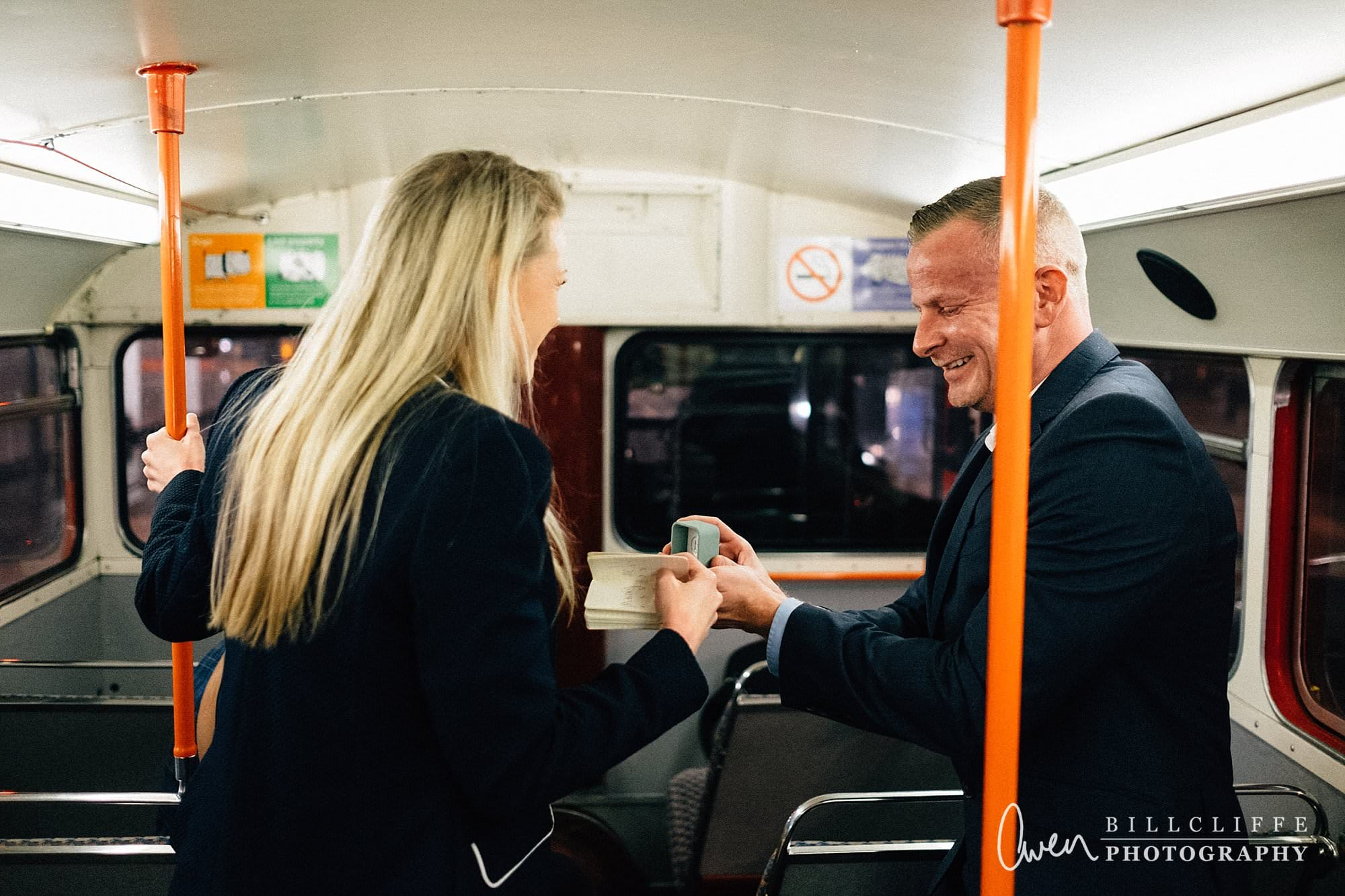 london engagement proposal photographer routemaster RE 009 - When Richard Proposed To Emma on a London Routemaster Bus