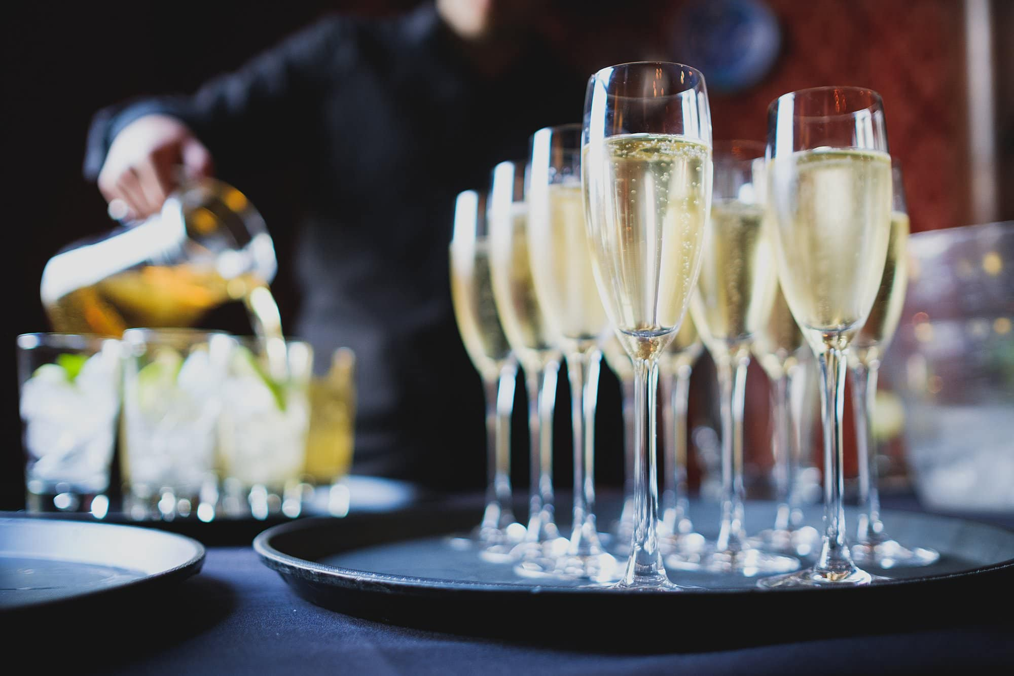 champagne served during leighton house museum event