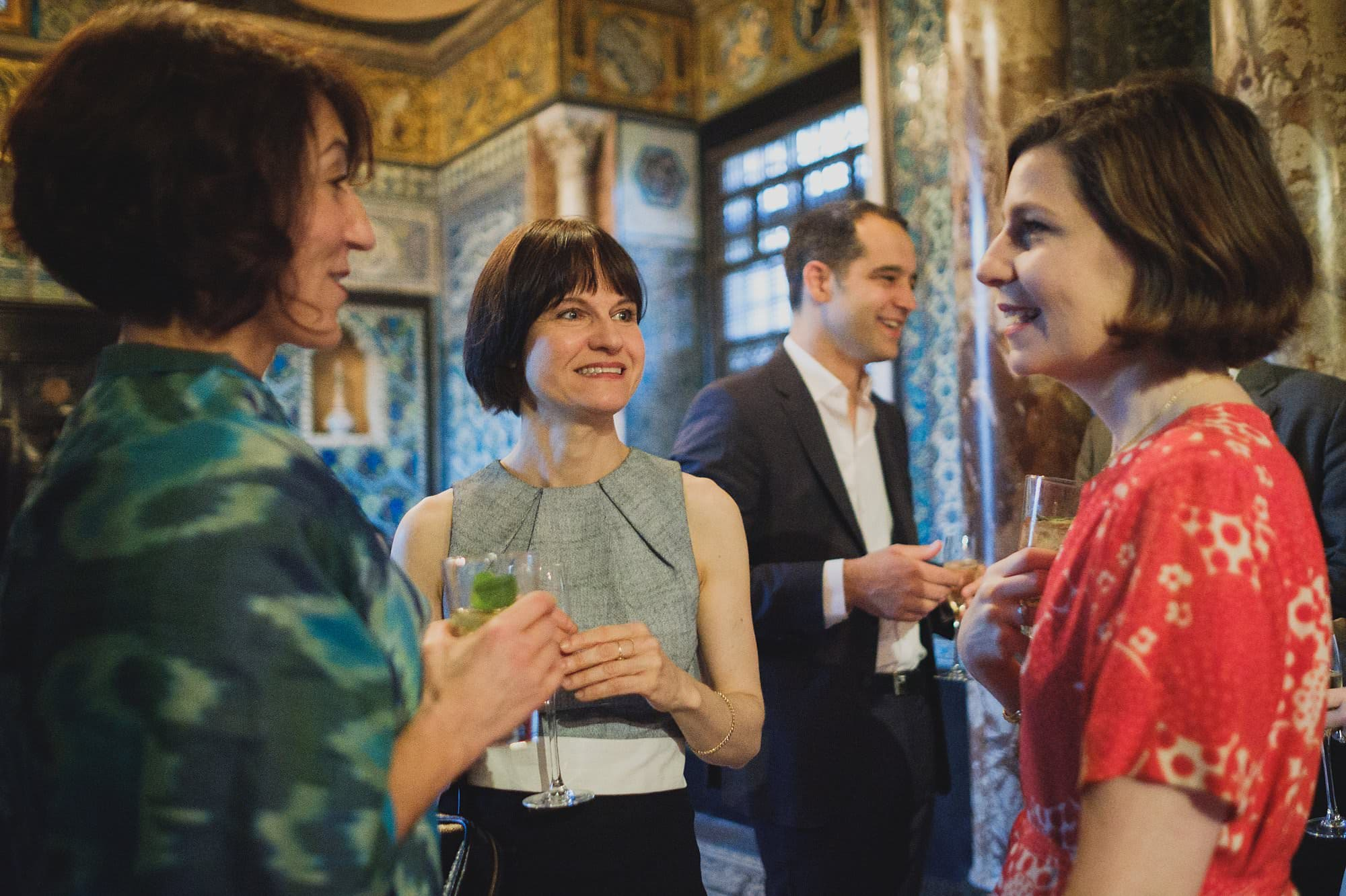 guests at a leighton house museum event