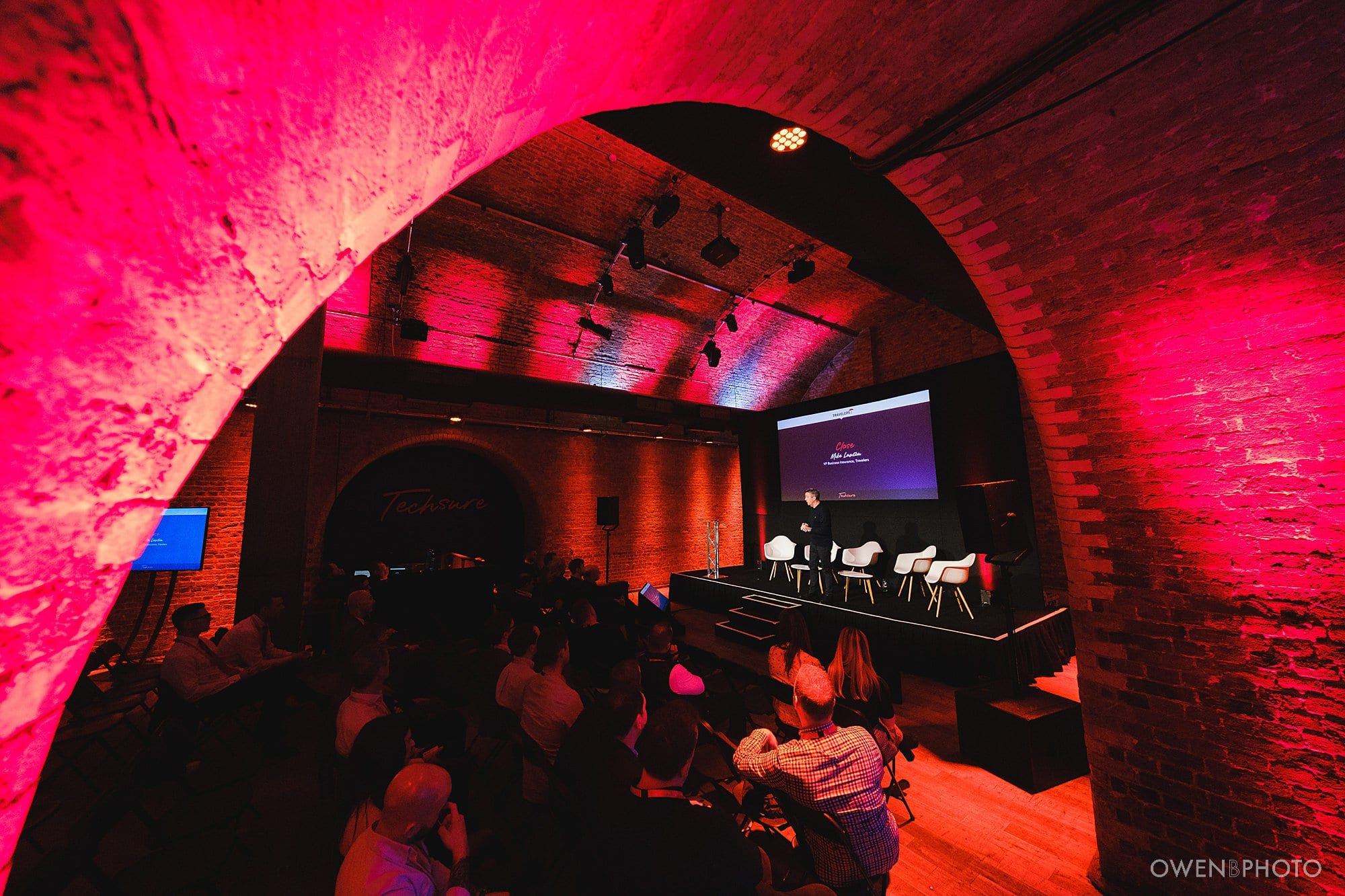 a corporate conference at the steelyard in london